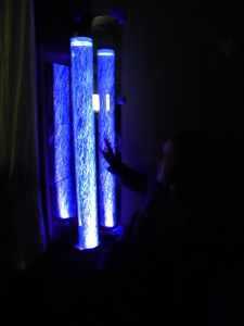This mom has made all sorts of DIY sensory room projects on a budget