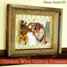 DIY Chicken Wire Frame DIY Home Decor Crafts