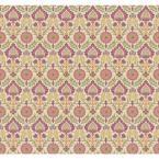 Waverly Small Prints Santa Maria Wallpaper, Ivory/Purple Plum/Pink/Orange/Yellow/Green