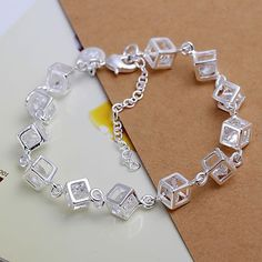 Free shipping silver plated jewelry bracelet fine fashion bracelet top quality wholesale and retail SMTH241-in Chain & Link Bracelets from Jewelry & Accessories on Aliexpress.com | Alibaba Group