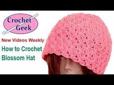 How to Make #Crochet Blossom Beanie #Hat. #CrochetGeek Crochet for Beginners, men, women, boys, girls, babies, newborn, toddler. https://goo.gl/sVF6bS New Vi...