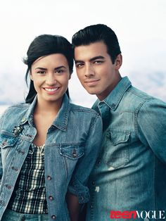 Joe Jonas & Demi Lovato for Teen Vogue (August 2010)