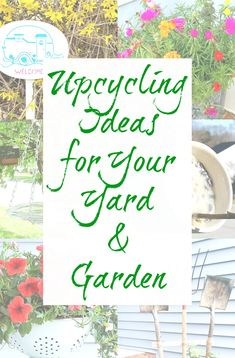 Upcycling and garden decor go hand-in-hand or gardening-glove-in-gardening-glove as the case may be. SO MANY THINGS ca Garden Projects, Diy Projects, Recycling Projects, Garden Tips, Garden Ideas, Hand In Hand, Garden Junk, Diy Planters, Diy Garden Decor
