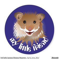Ich liebe meinen kleinen Hamster Aufkleber