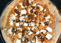 Vegan Smores pizza. Oh. My. God. I just died and went to heaven!