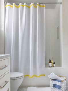 3 Easy Ways To Upcycle A Plain Shower Curtain