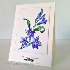 CAS (clean and simple) card using Altenew stamps