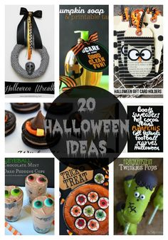 20 Halloween ideas on iheartnaptime.com ...these are fabulous!!