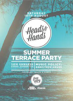 Heads & Hands Summer Terrace Party on Behance