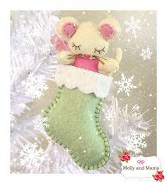 christmas mouse and stocking tutorial from molly and mama - Mouse Decorations Christmas