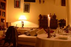 Riad Baoussala -Essaouira, Morocco // romantique dinner www.baoussala.com
