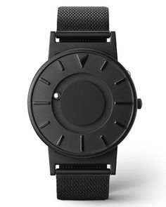 The Eone Bradley Black Watch Mesh Band is an innovative fashion watch that everyone, including the visually impaired, can touch to tell time.