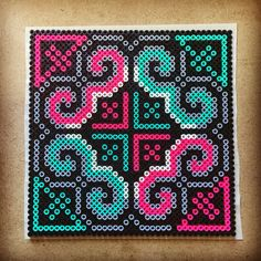 "Decorative 7.5"" X 7.5"" Perler bead design. Just cuz. Lazy Saturday. Freaking…"