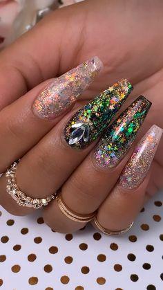 Rose Gold Nails, Silver Nails, Bling Nails, Glitter Nails, Pink Glitter, Fabulous Nails, Gorgeous Nails, Pretty Nails, Nagel Bling