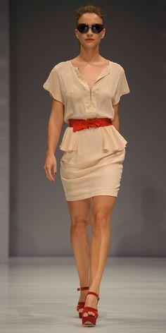 Peplum Silk Dress