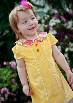 The Jackie: Retro Dress PDF Pattern, Girls Dress Pattern, Baby & Toddler Dress Pattern. $7.95, via Etsy.