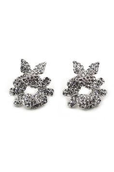 Fashion metal butterfly crystal earrings