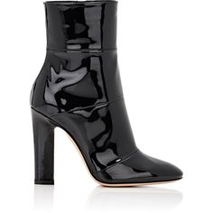 Gianvito Rossi Women's Brandy Ankle Boots ($1,075) ❤ liked on Polyvore featuring shoes, boots, ankle booties, ankle boots, black, bootie boots, black patent boots, black bootie and short boots