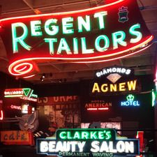 Tuesday - Sunday: 10am - 5pm Thursday until 8pm  Visitors will get a glimpse of Vancouver's big city lights of the 1950s, 1960s, and 1970s in this exhibition of the MOV's neon sign collection.   The remarkable signs, some lit for the first time since they were rescued from the junk yard, are accompanied by the tale of how the city went through a war of aesthetics that resulted in a transition of the very way Vancouver imagines itself.  In this period Vancouver had approximately 19,000 signs… Junk Yard, City Lights, Vancouver, Thursday, 1970s, Period, Aesthetics, Sunday, Neon Signs