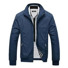 New Arrival Spring Men's Solid Fashion Jacket Male Casual Slim Fit Mandarin Collar Jacket 3 Colors M-XXXL