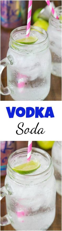 Vodka Soda Recipe – a classic easy to make cocktail that uses La Croix soda water, vodka and a twist of lime. Crisp, refreshing and delicious
