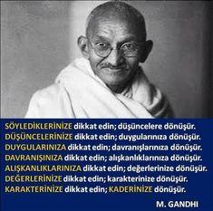 Sözler: HAFTANIN SÖZÜ - 157 Gandhi Jayanti Wishes, Gandhi Jayanti Quotes, Gandhi Quotes, Poem Quotes, Wise Quotes, Words Quotes, Motivational Quotes, Inspirational Quotes, Sayings