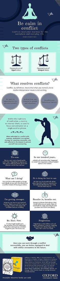 Conflict-resolution mantras for the workplace and everyday life [infographic] | OUPblog