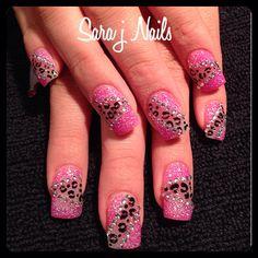 Acrylic Nail Design Glow in the Dark Fancy Nail Art, Fancy Nails, Bling Nails, New Nail Designs, Acrylic Nail Designs, Really Cute Nails, Pretty Nails, Gel Acrylic Nails, Toe Nails