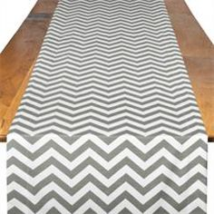 Pewter Chevron  Table Runner For baby or bridal shower, dinner party... good for party with bright hues in color scheme: yellows, pinks, blues