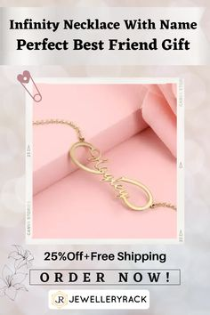 If you want a trendy customized gift, then you have come to right place . This fashionable Infinity Necklace With Name is all what you need for a cute yet sophisticated trendy look. It is also the best birthday customized gift, customized anniversary present, or just customized necklace with name gift to show love and care ! Enjoy our offer of 25% off + Free Shipping for limited time ! Order now ! Seashell Jewelry, Women's Jewelry, Jewellery, Infinity Necklace With Names, Name Necklace, Fashion Fall, Boho Fashion, Womens Fashion, Dyi