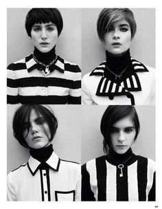 """Vogue China February 2013 """"Mod Revolution""""   Different takes on mod hairstyles..."""