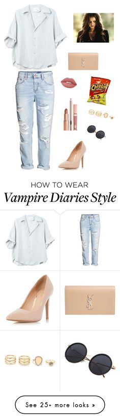 """""""Untitled #998"""" by francyrizzo on Polyvore featuring Dorothy Perkins, Yves Saint Laurent, Lime Crime, Dolce Vita and LULUS"""