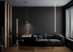 Earthy Brown And Black Decor With Rugged Rock Features & Luxurious Lighting Home Gym Design, Office Interior Design, Interior Design Services, Office Interiors, House Design, Home Office, White Washing Machines, Luxury Furniture Brands, Black Decor
