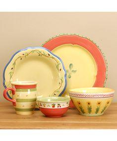 ... painted Pfaltzgraff Pistoulet 20-piece Dinnerware Set | Overstock.com