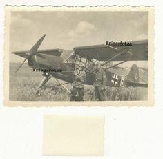 Fieseler-Storch-Flugzeug-Kennung-Luftwaffe-Piloten-Foto-2-WK