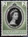 Antigua Queen Elizabeth II 1953 Coronation Fine Mint SG 120 Scott 106 Other Antigua Stamps Click HERE