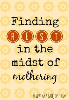 Do you ever feel like mothering is just too hard and the demands too great? Here's an encouraging look at how Jesus meets our needs right there in the middle of hard, demanding moments. A must read for weary moms!
