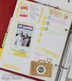 Monthly re-cap Life Documented Planner page by design team member Candi Billman