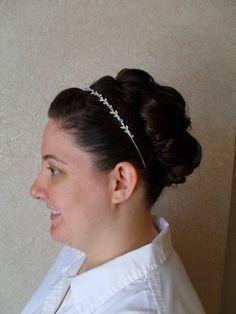 Irish princess style updo, classic updo, high updo, large updo