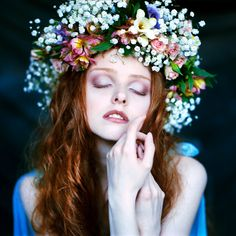 ❀ Flower Maiden Fantasy ❀ beautiful photography of women and flowers - delicate hand pose