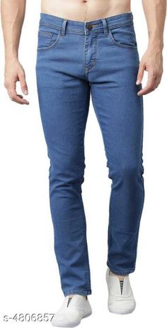 Checkout this latest Jeans Product Name: *Trendy Jeans For Men* Fabric: Cotton Blend Pattern: Solid Multipack: 1 Sizes:  28 (Waist Size: 28 in, Length Size: 40 in)  30 (Waist Size: 30 in, Length Size: 40 in)  32 (Waist Size: 32 in, Length Size: 40 in)  36 (Waist Size: 36 in, Length Size: 40 in)  Country of Origin: India Easy Returns Available In Case Of Any Issue   Catalog Rating: ★3.9 (1033)  Catalog Name: Danica Voguish Men Jeans CatalogID_700679 C69-SC1211 Code: 344-4806857-4731