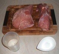 Recept na domácí dušenou šunku z jednoho kusu masa Pork, Beef, Kale Stir Fry, Meat, Pigs, Pork Chops, Steaks, Steak