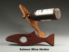 Erik Jorgensen Salmon Wine Bottle Holder