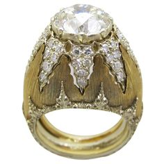 Buccellati Diamond Ring | From a unique collection of vintage solitaire rings at http://www.1stdibs.com/jewelry/rings/solitaire-rings/