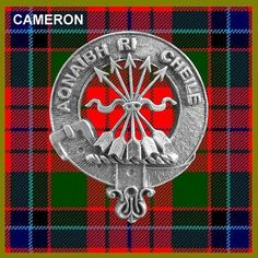 Clan Cameron Crest Badge and Tartan