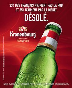 Collectibles Breweriana, Beer Publicite 1972 Kronenbourg Bière