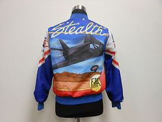 Vtg Chalk Line Air Force Fanimation Button UP Jacket by TCPKickz