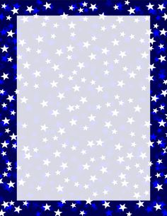 Navy Three Tone Stars Border Page Borders Design, Border Design, Borders For Paper, Borders And Frames, Printable Labels, Printable Paper, Printables, Cool Minecraft Houses, Minecraft Buildings