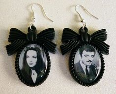 Morticia and Gomez earrings