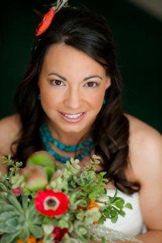 Yolanda Anita Sanchez    Chicana, daughter, sister, niece, cousin, friend, bride (in this picture) environmental health scientist